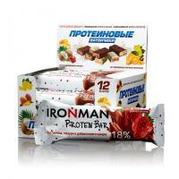 Батончик протеиновый Ironman™ без глазури (ром + клубника) - 50 г